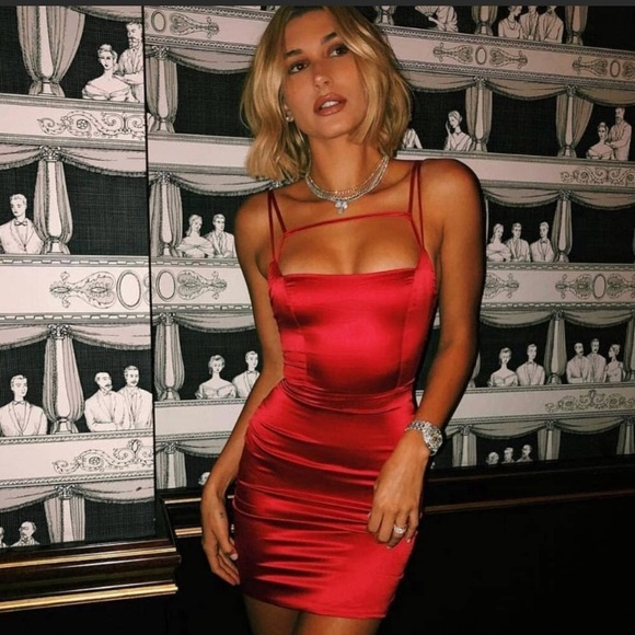 dc8da4a31045 Oh Polly Dresses | Red Cut Out Satin Mini Dress | Poshmark